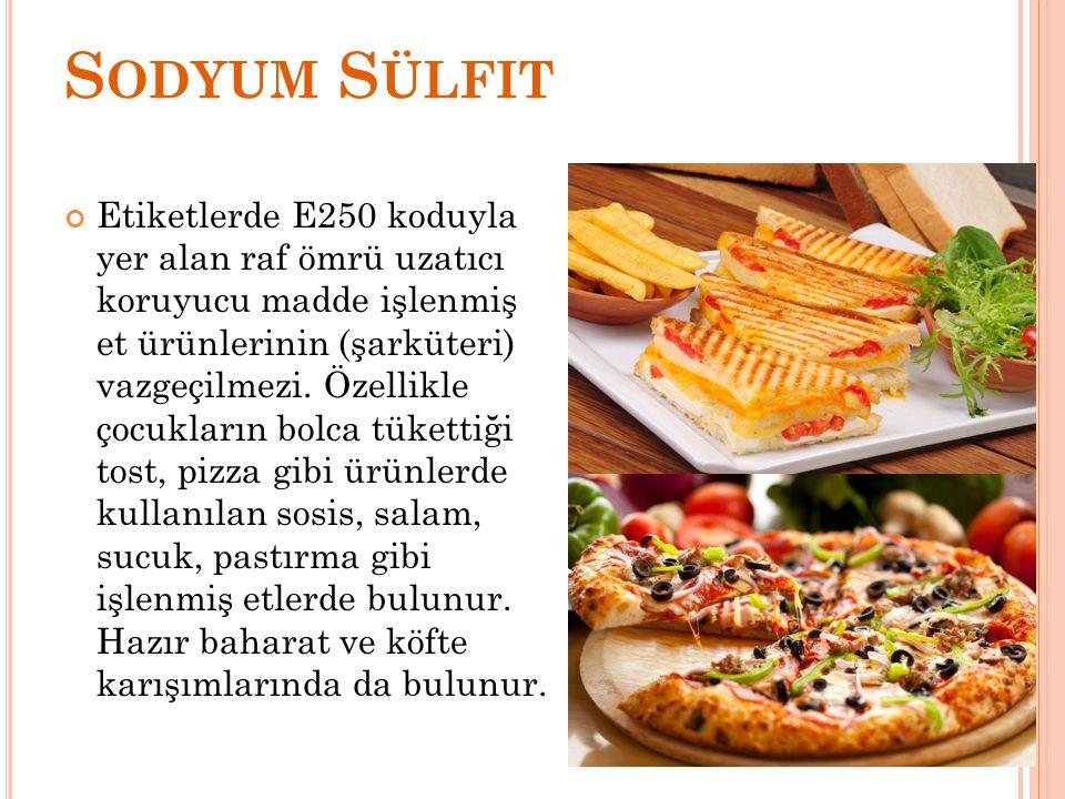Sodyum Sülfit