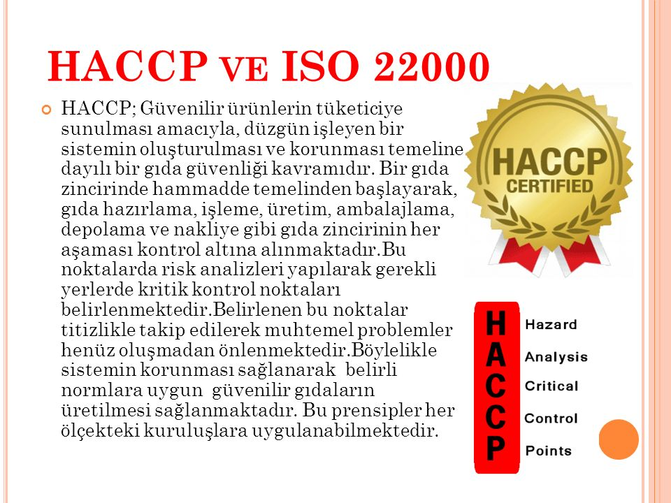 HACCP ve ISO 22000
