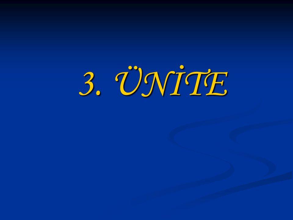 3. ÜNİTE