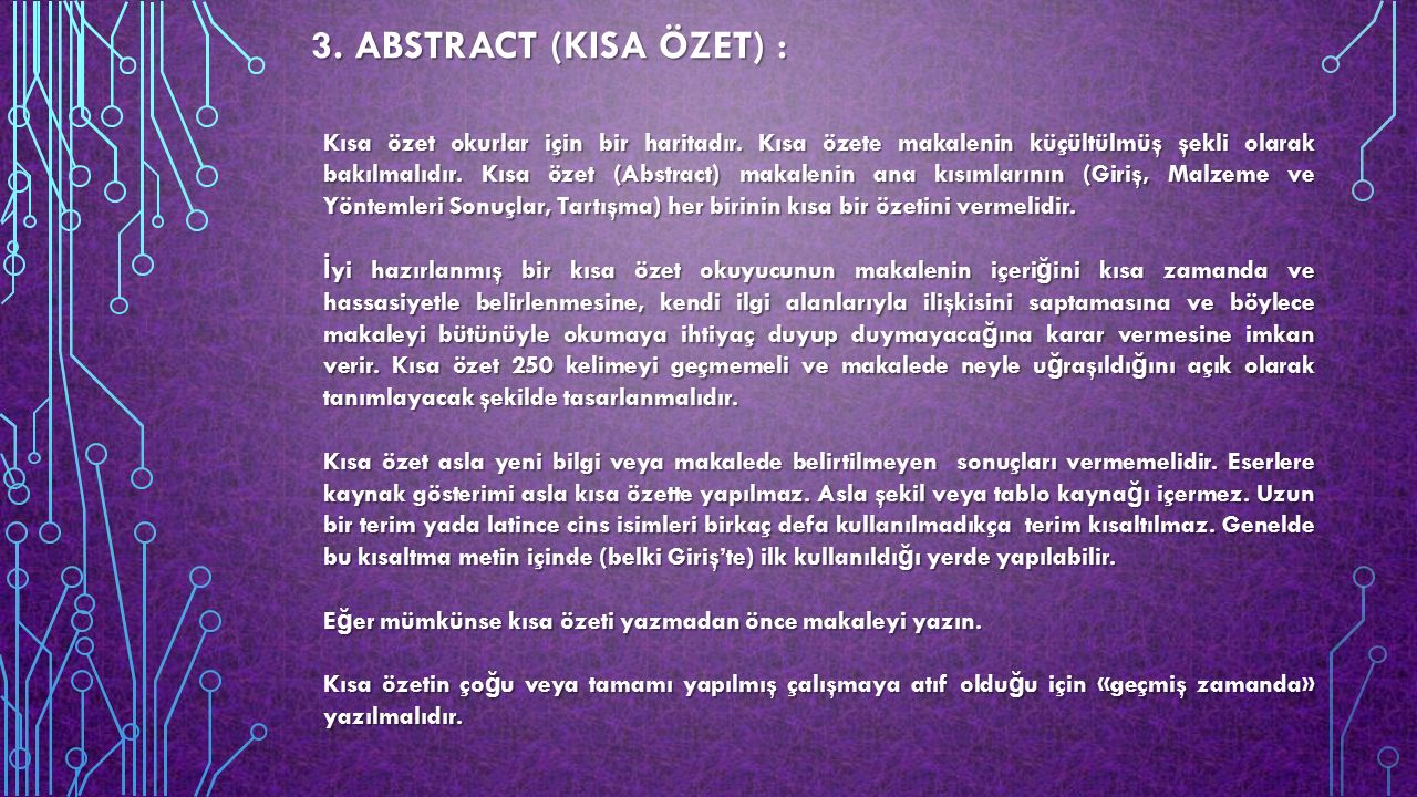 3. ABSTRACT (KISA ÖZET) :