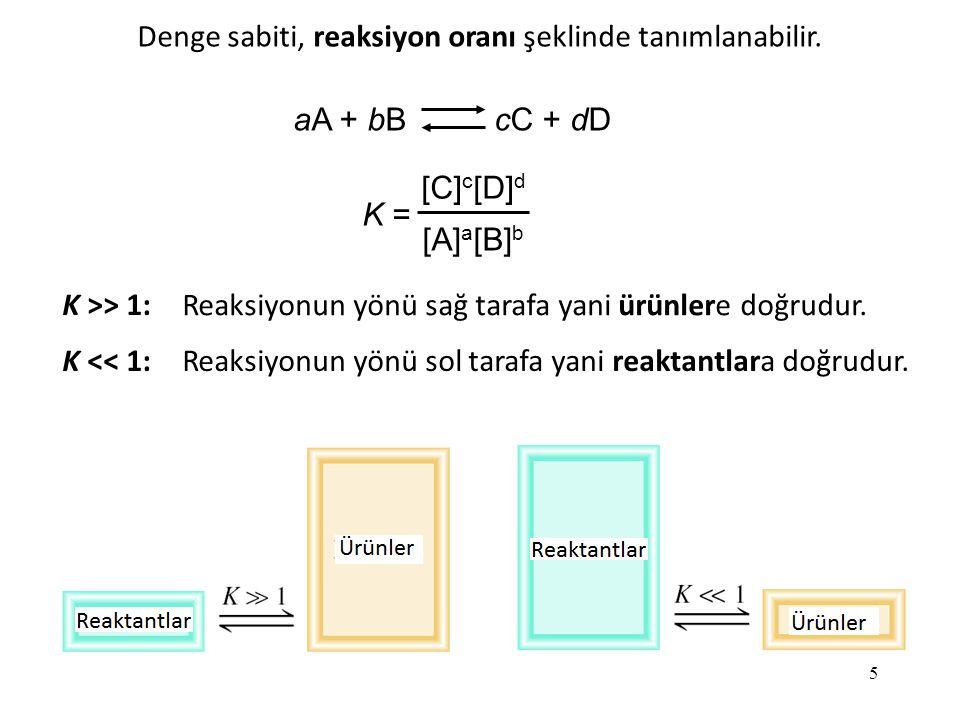 Denge sabiti, reaksiyon oranı şeklinde tanımlanabilir.