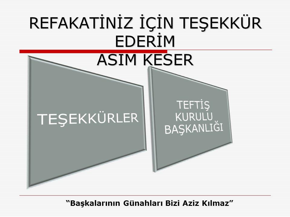 REFAKATİNİZ İÇİN TEŞEKKÜR EDERİM ASIM KESER