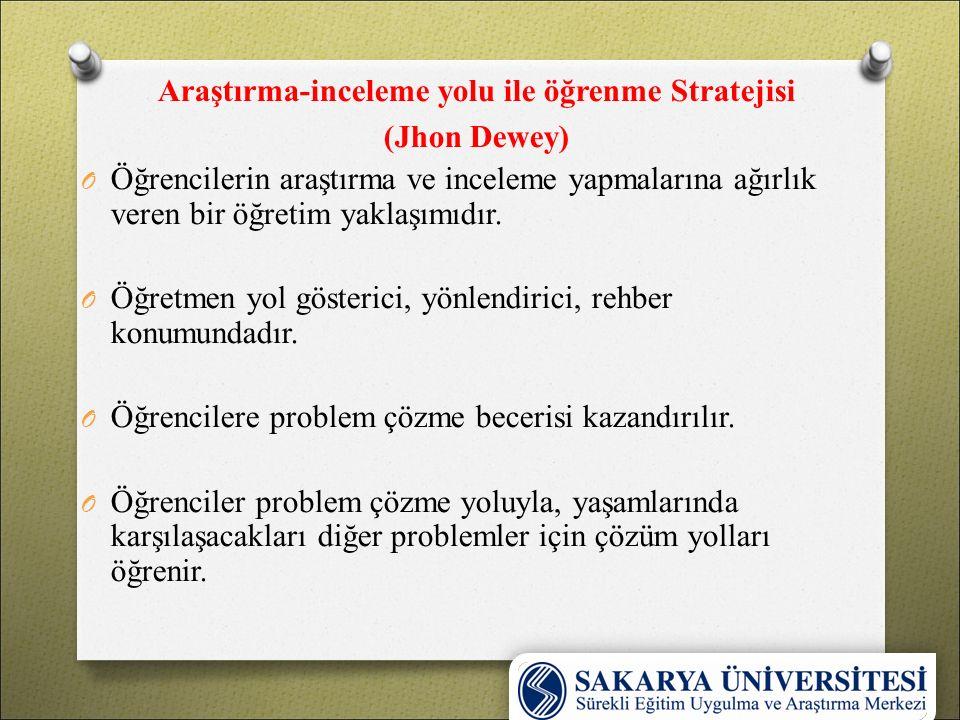 Araştırma-inceleme yolu ile öğrenme Stratejisi
