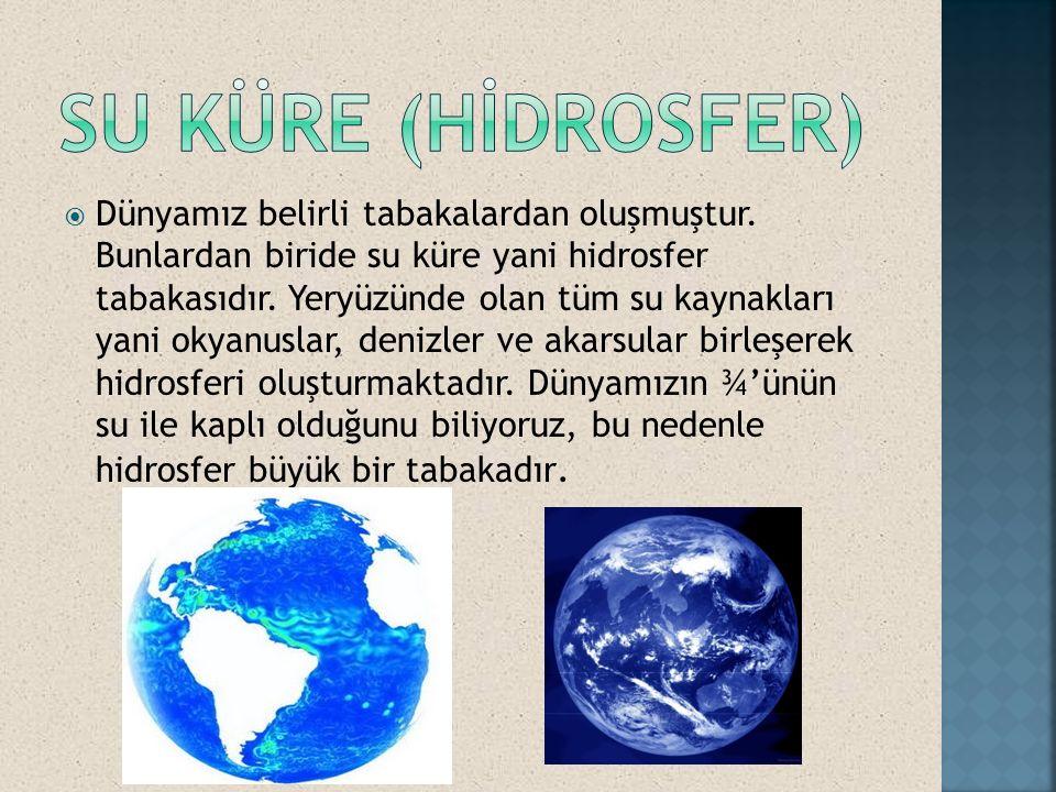 Su küre (Hİdrosfer)