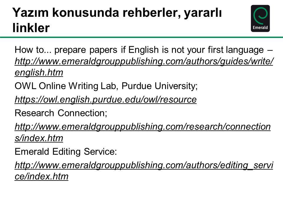 Yazım konusunda rehberler, yararlı linkler