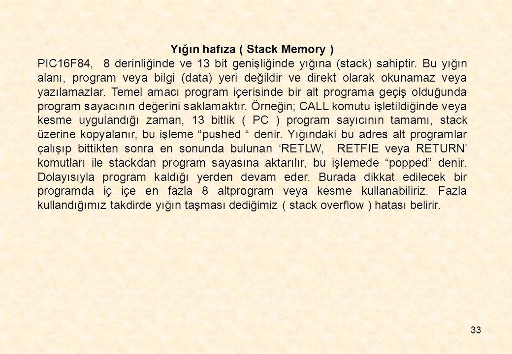 Yığın hafıza ( Stack Memory )