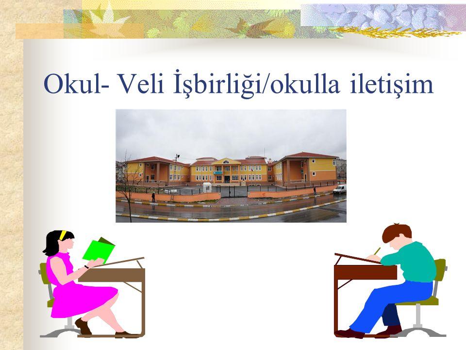 Okul- Veli İşbirliği/okulla iletişim