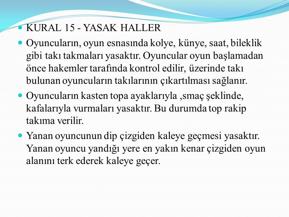 KURAL 15 - YASAK HALLER