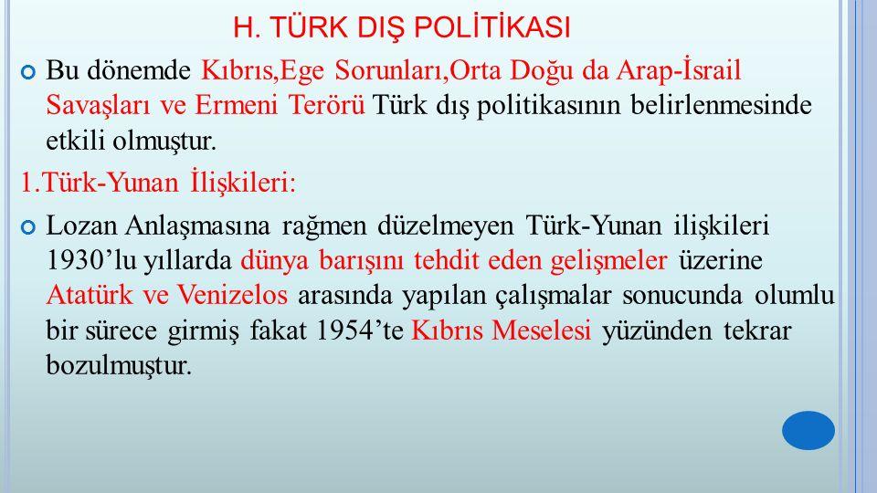 H. TÜRK DIŞ POLİTİKASI