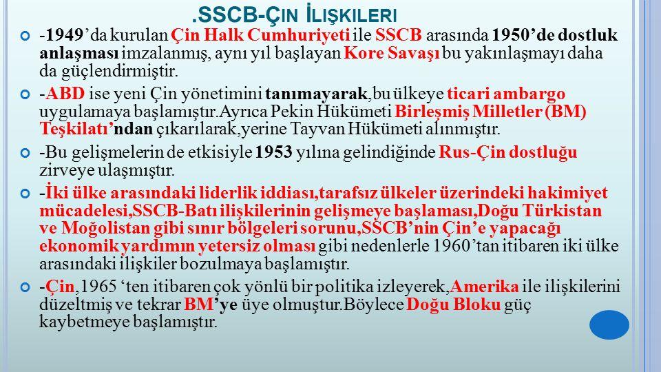 .SSCB-Çin İlişkileri