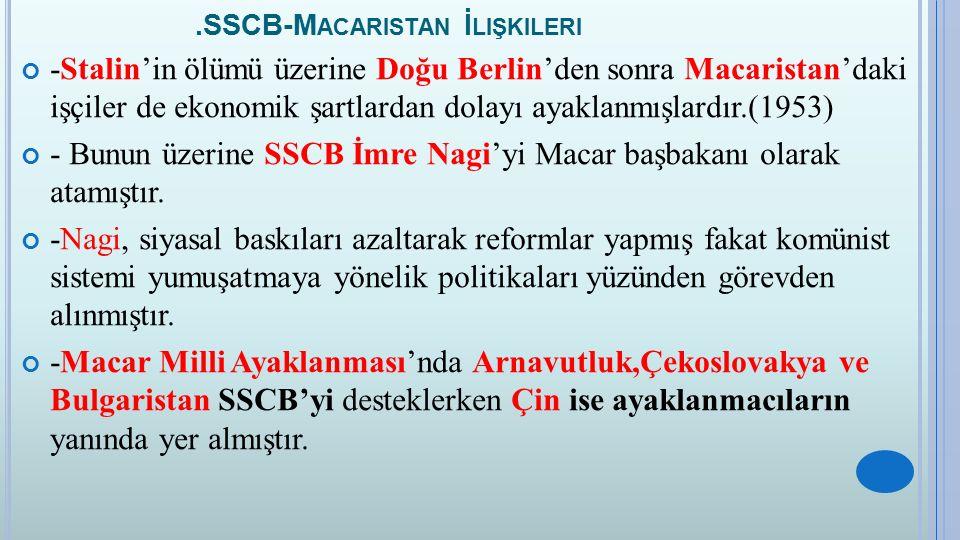 .SSCB-Macaristan İlişkileri