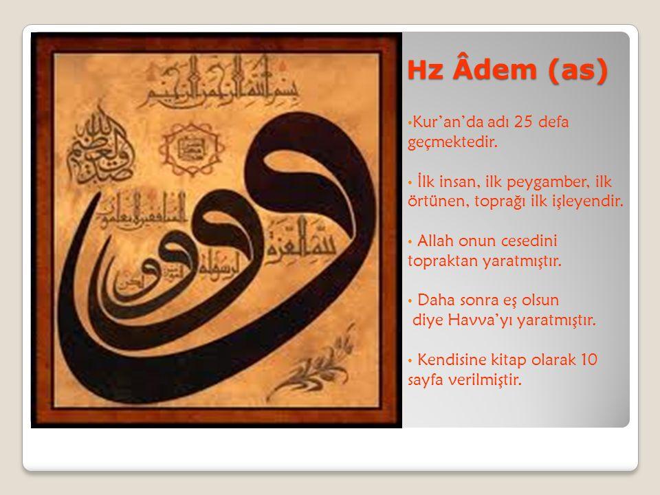 Hz Âdem (as) Kur'an'da adı 25 defa geçmektedir.