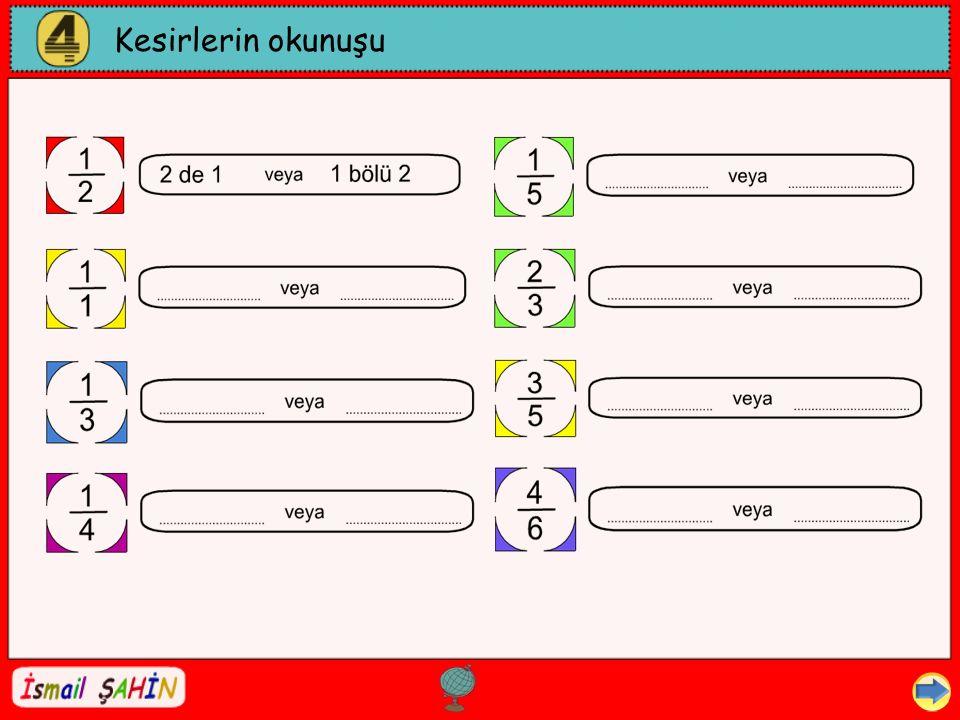 Kesirlerin okunuşu Dil ve Dilbilgisi