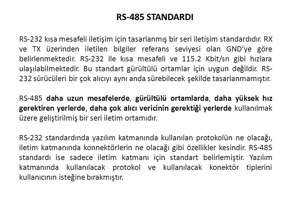 RS-485 STANDARDI