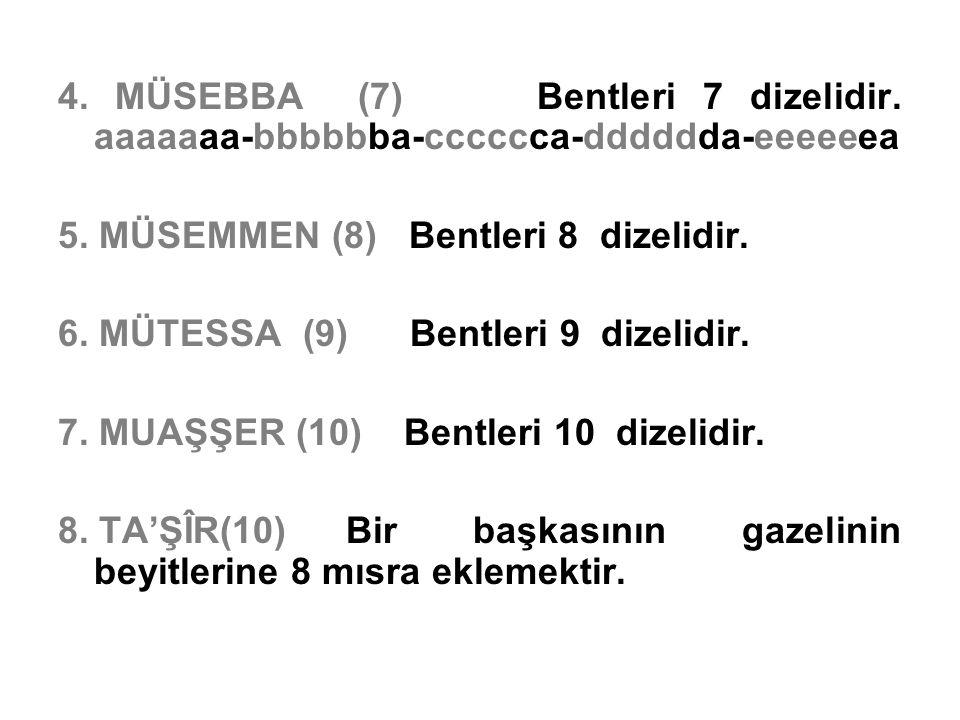 4. MÜSEBBA (7) Bentleri 7 dizelidir