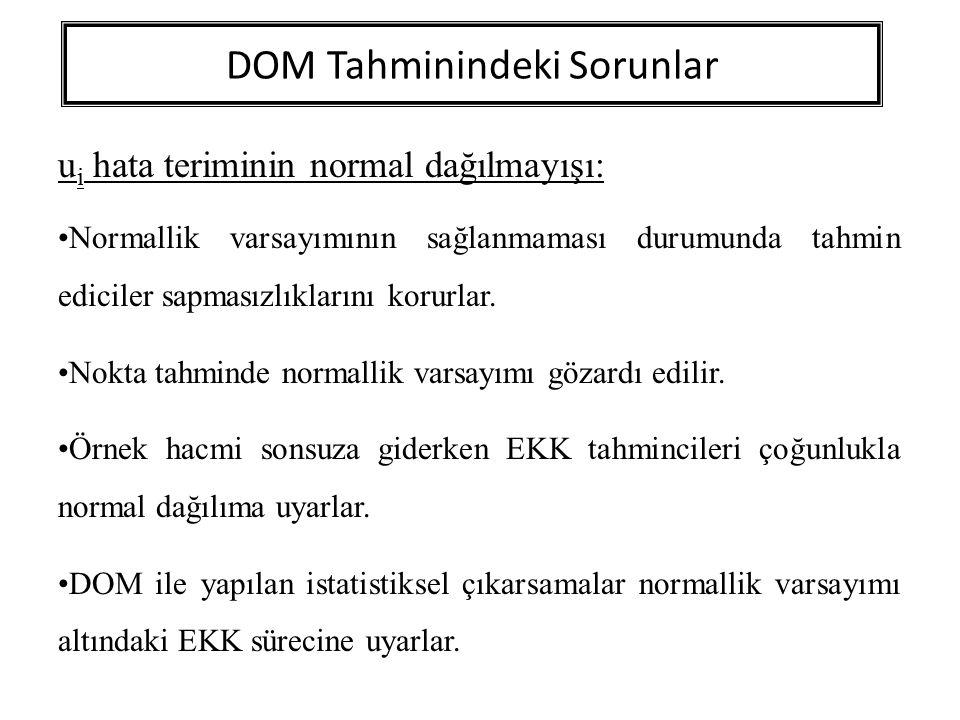 DOM Tahminindeki Sorunlar