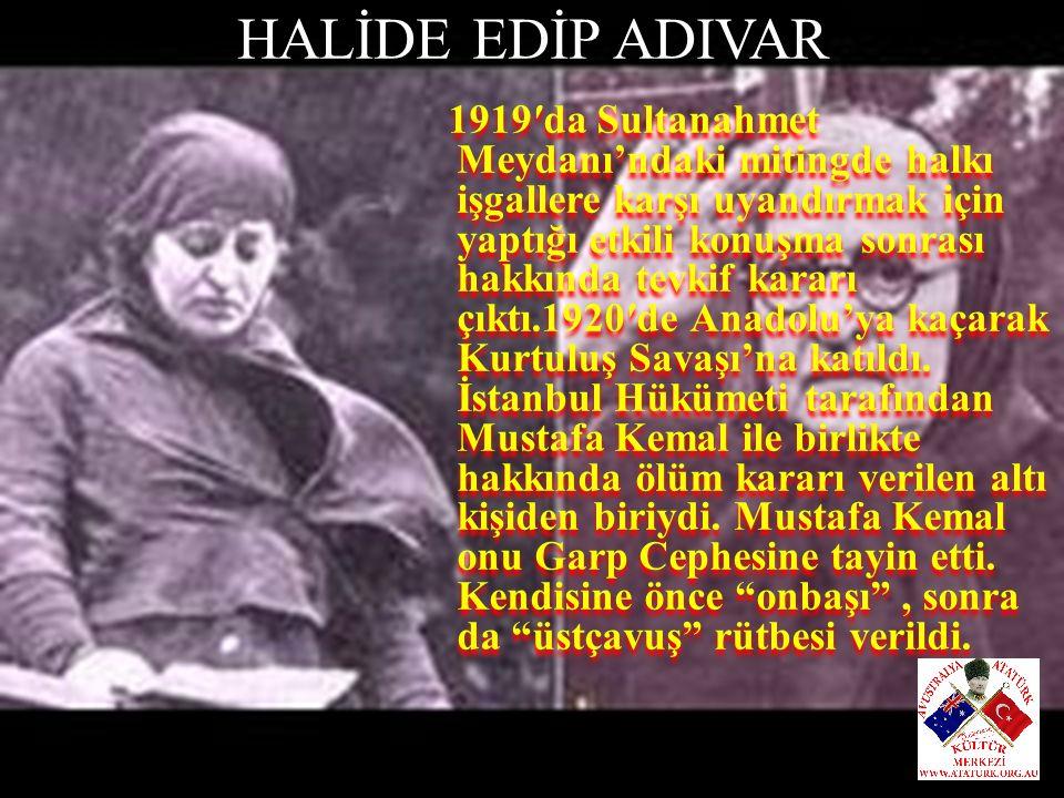 HALİDE EDİP ADIVAR