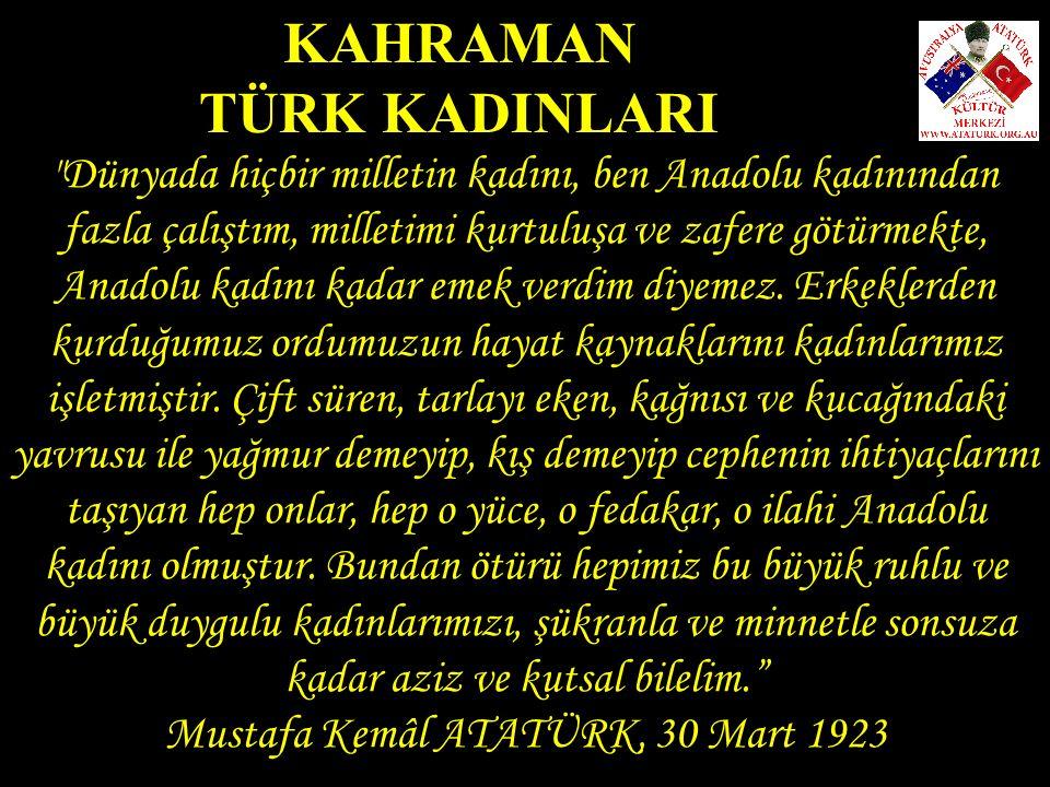 Mustafa Kemâl ATATÜRK, 30 Mart 1923