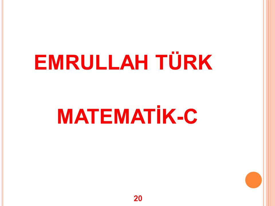 EMRULLAH TÜRK MATEMATİK-C