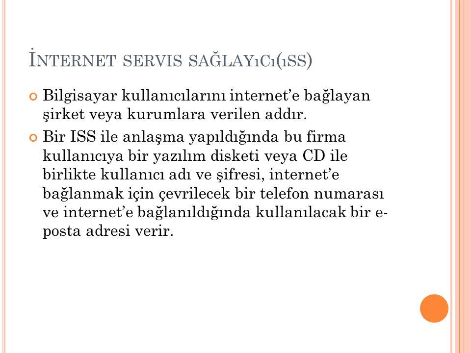 İnternet servis sağlayıcı(ıss)