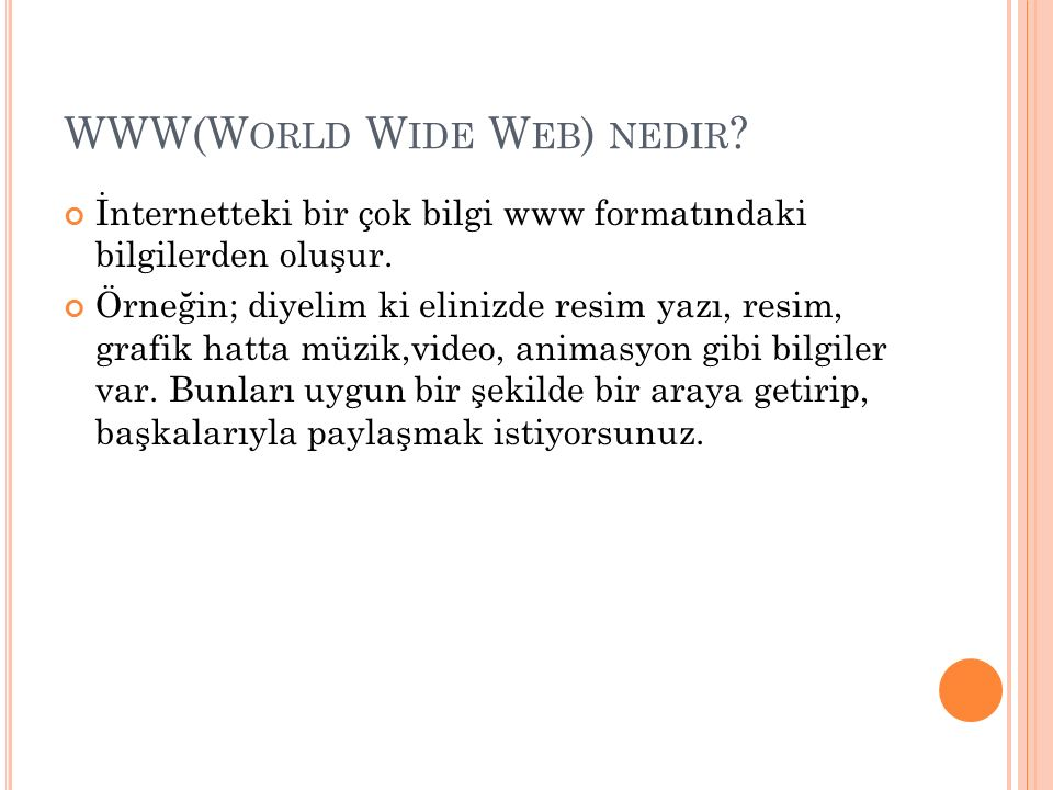 WWW(World Wide Web) nedir