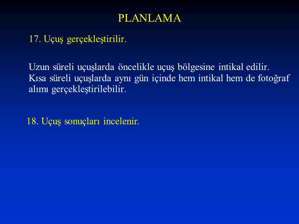 PLANLAMA 17. Uçuş gerçekleştirilir.