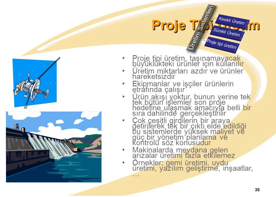 Proje Tipi Üretim Üretim Sistemleri