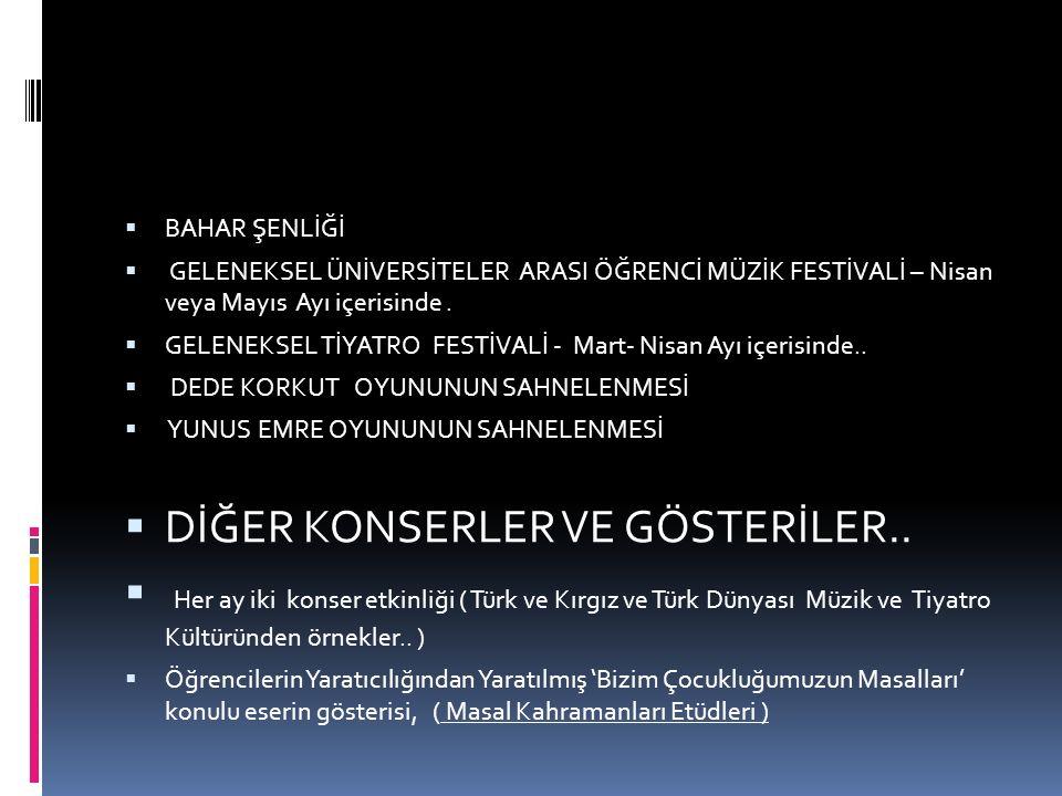 DİĞER KONSERLER VE GÖSTERİLER..