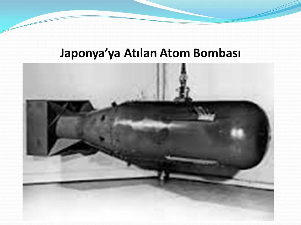 Japonya'ya Atılan Atom Bombası