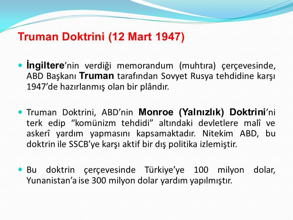 Truman Doktrini (12 Mart 1947)