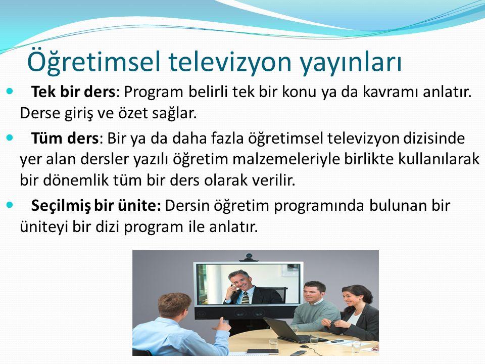 Öğretimsel televizyon yayınları