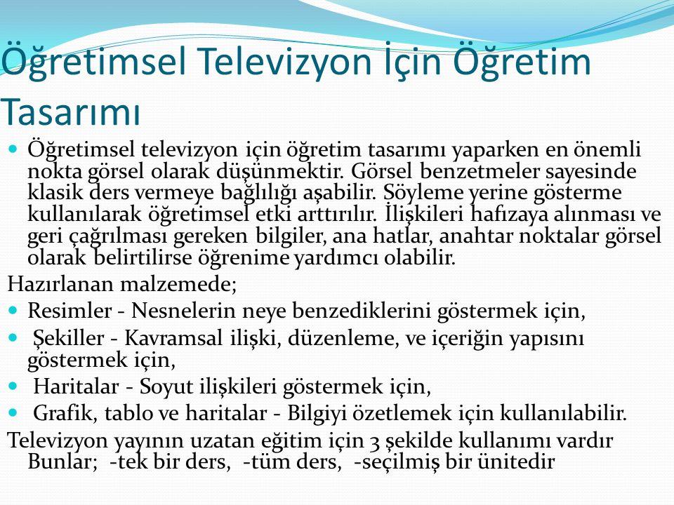 Öğretimsel Televizyon İçin Öğretim Tasarımı
