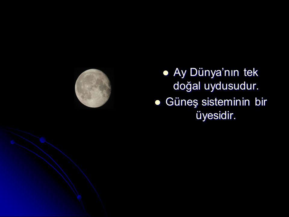 Ay Dünya'nın tek doğal uydusudur. Güneş sisteminin bir üyesidir.