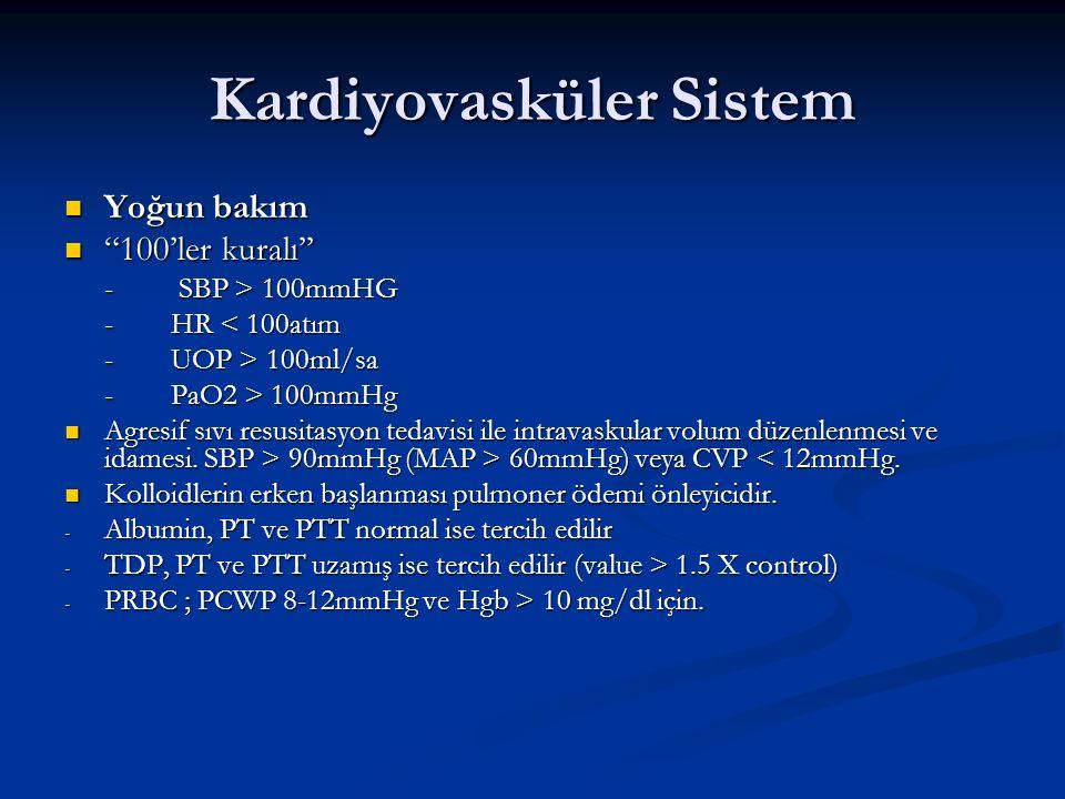 Kardiyovasküler Sistem