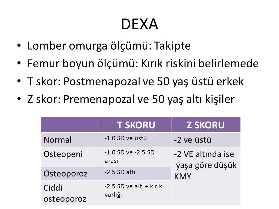 DEXA Lomber omurga ölçümü: Takipte