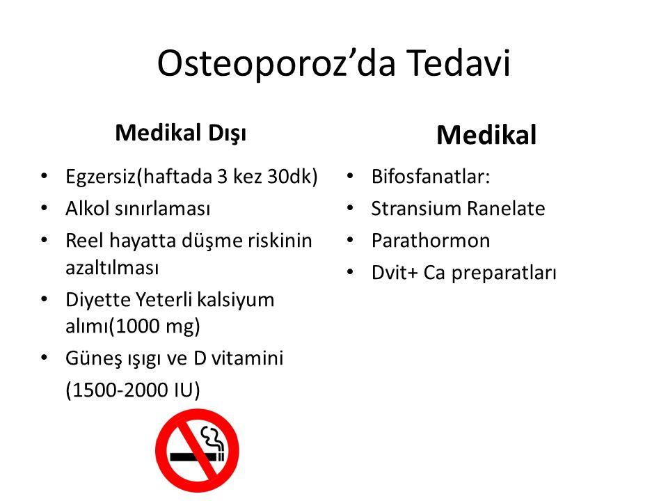 Osteoporoz'da Tedavi Medikal Medikal Dışı Egzersiz(haftada 3 kez 30dk)