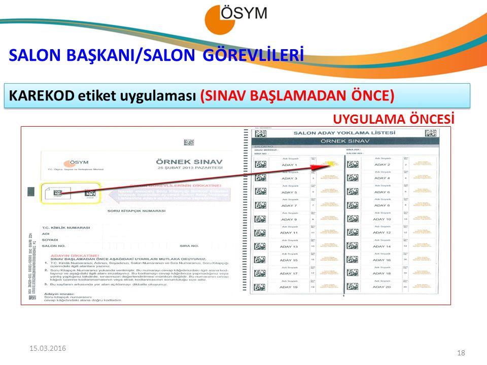 SALON BAŞKANI/SALON GÖREVLİLERİ