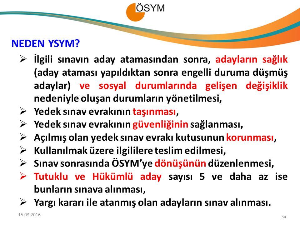 NEDEN YSYM