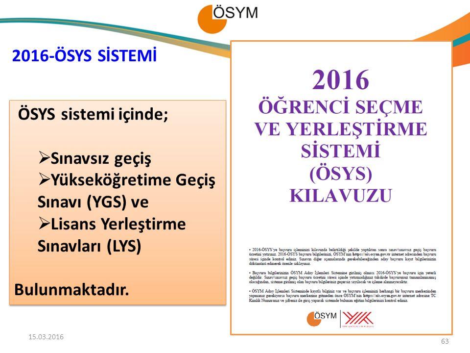 Yükseköğretime Geçiş Sınavı (YGS) ve