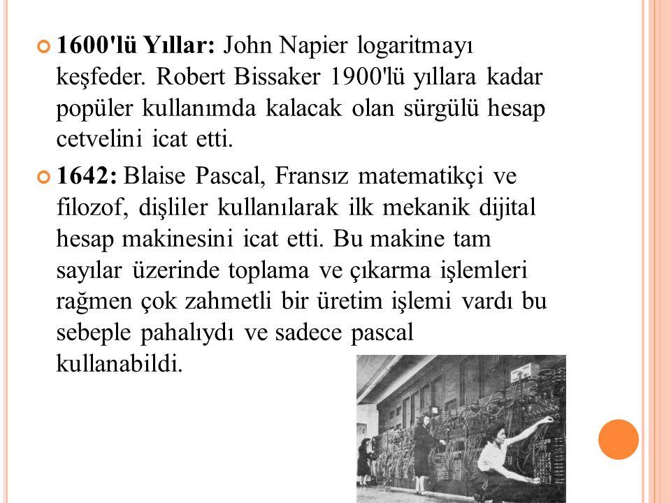 1600 lü Yıllar: John Napier logaritmayı keşfeder