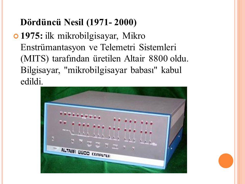 Dördüncü Nesil (1971- 2000)
