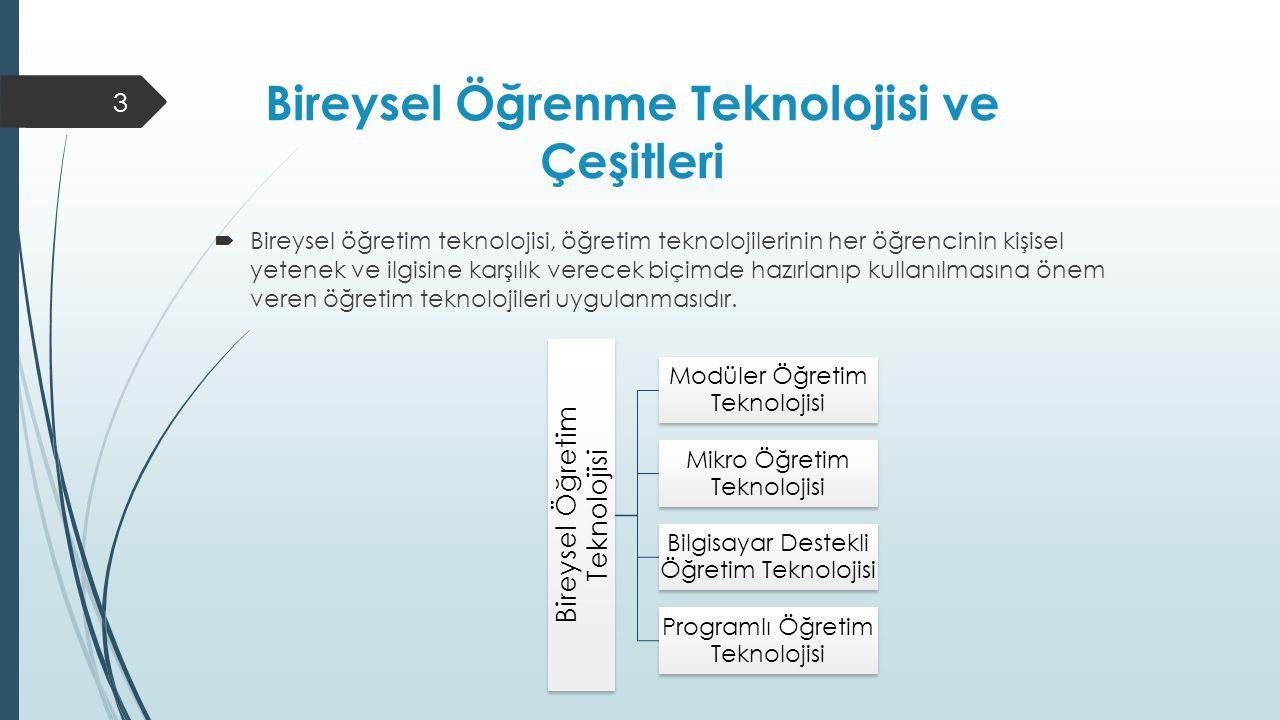 Bireysel Öğrenme Teknolojisi ve Çeşitleri
