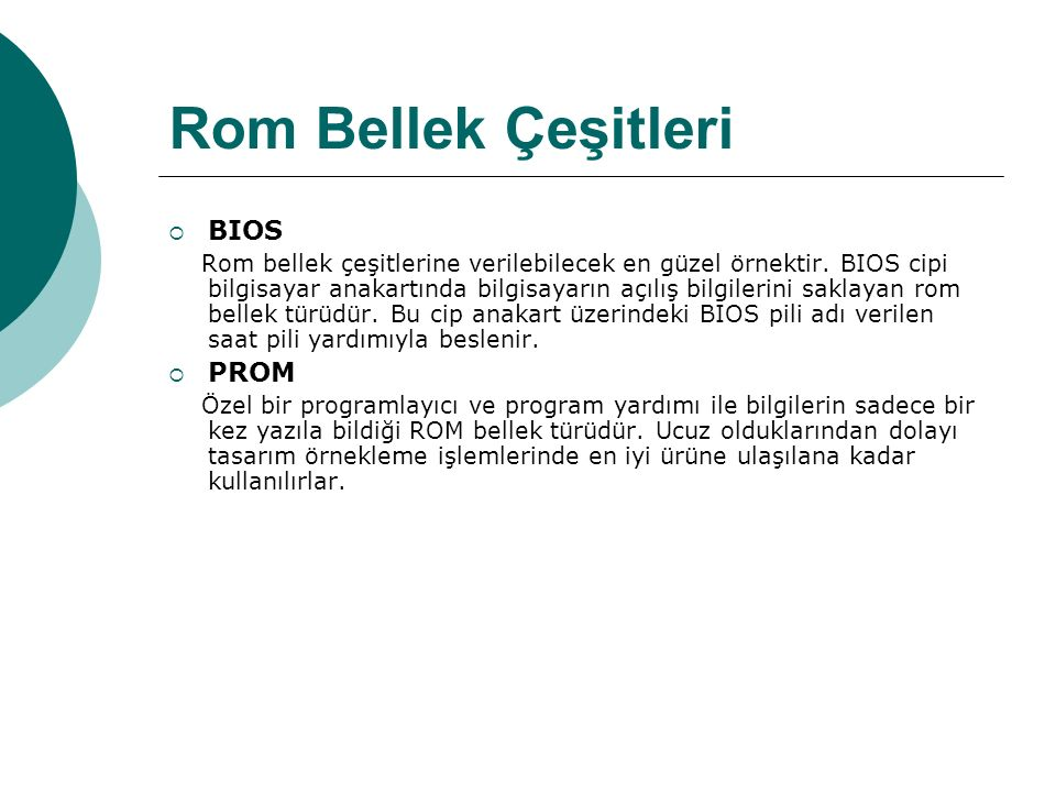 Rom Bellek Çeşitleri BIOS PROM