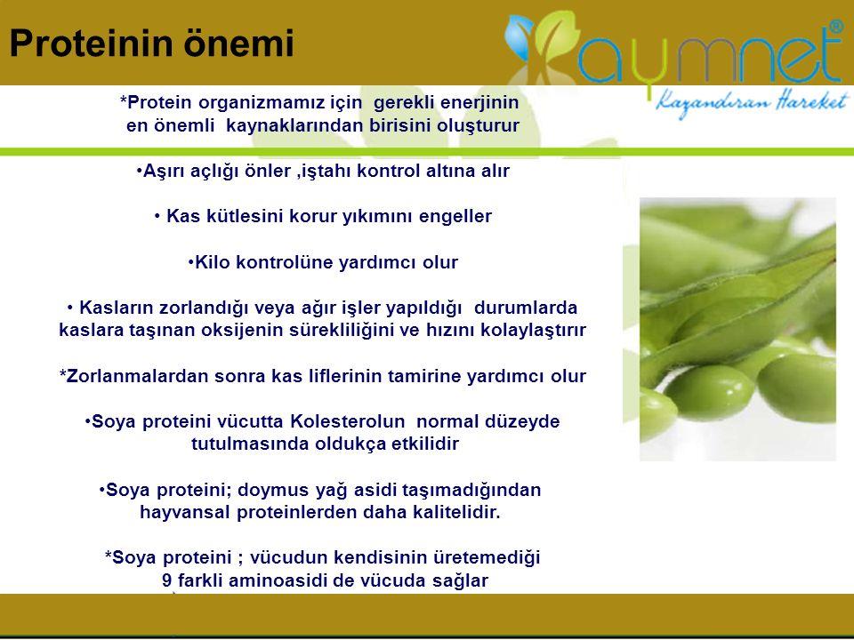 Proteinin önemi *Protein organizmamız için gerekli enerjinin