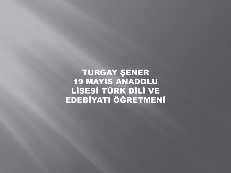 19 MAYIS ANADOLU LİSESİ TÜRK DİLİ VE EDEBİYATI ÖĞRETMENİ