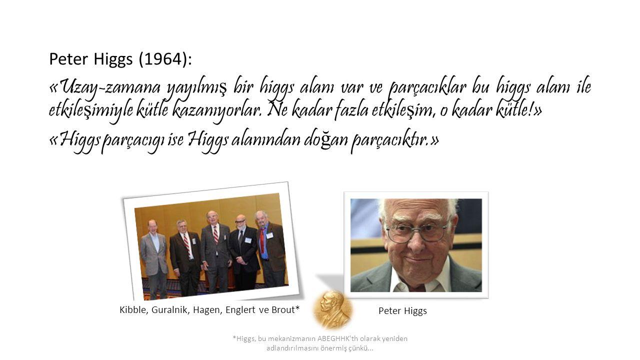 «Higgs parçacıgı ise Higgs alanından doğan parçacıktır.»