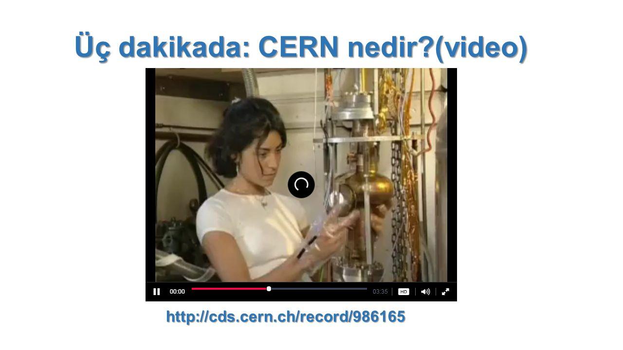 Üç dakikada: CERN nedir (video)