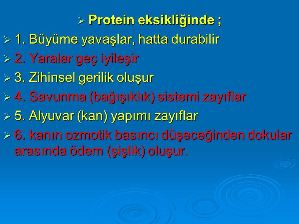 Protein eksikliğinde ;