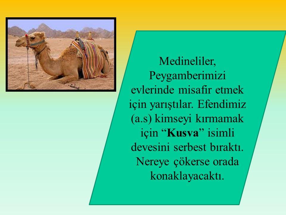 Medineliler, Peygamberimizi evlerinde misafir etmek için yarıştılar
