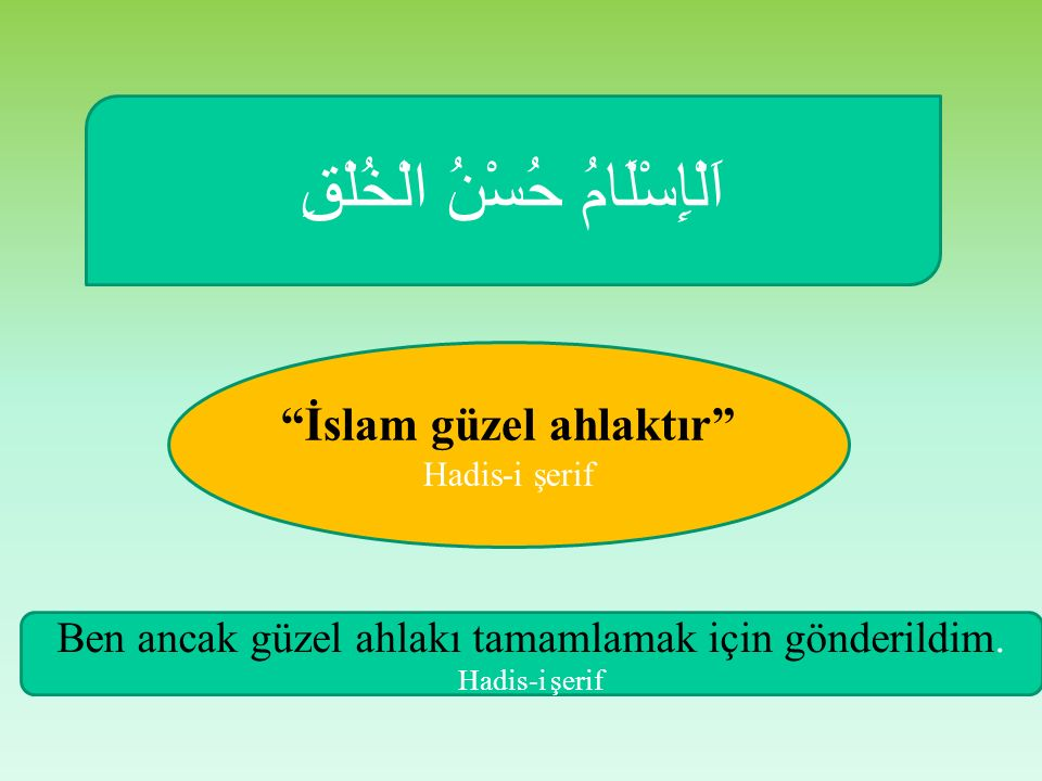 İslam güzel ahlaktır